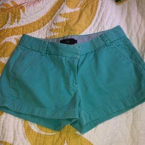 "Size 6 J. Crew 3"" chino shorts"